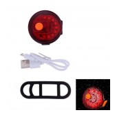 Bicycle Light Ancus BG-107 with Red LED Front Light, 6 Brightness Levels and USB Charging. Black