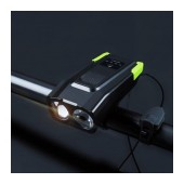 Bicycle Light Ancus BG1718 with Dual LED Light, 4 Brightness Levels and Display Screen. Black