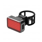 Bicycle Light Ancus BK820 with Red LED Back Light 100 Lumens, IPX8 and USB Charging. Black