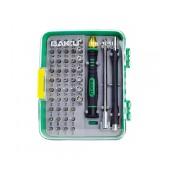Screwdriver Set Bakku BK-3051 51 in 1 with 47 Tips, Tweezer, Extension Rod and Packaging Case