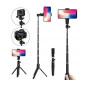 Selfie Stick Ancus K20 Wireless Extendible Black with Tripod 106cm