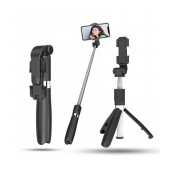 Selfie Stick Ancus L01s Wireless Extendible Black with Tripod and Remote 186-700mm