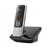 Dect/Gap Gigaset S850 Platinum-Blackwith Bluetooth and micro USB connection with Hands Free 2,5mm S30852-H2605-R601