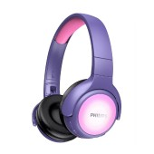 Bluetooth Stereo Headphone Philips TAKH402PK/00 V5.0 Built-in microphone Pink LED panel User-friendly button control