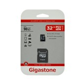 Flash Memory Card Gigastone MicroSDHC UHS-1 32GB C10 Full HD Video Series with Adapter up to 90 MB/s*