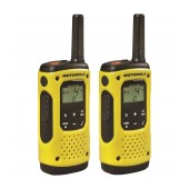 Walkie Talkie Motorola Go Anywhere PMR T92 IP67 Black-Yellow with Led Torch and Hands Free Connector. Coverage 10 km