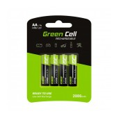 Rechargeable Battery Green Cell 2000 HR6  mAh size AA 1.2V Pcs 4