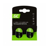 Rechargeable Battery Green Cell GR13 HR14 Ni-MH 4000 mAh Size C 1.2V Τεμ. 2