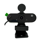 USB Webcam Mobilis H5 Full HD 2K 2560X1440 with Microphone and High Resolution. Black