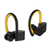 Wireless Hands Free Media-Tech MT3595 Marathon TWS V.5.0 Yellow-Black with Sensitive Microphone and Easy Pairing
