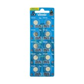 Buttoncell Vinnic L921F AG6 LR69 Pcs. 10 with Perferated Packaging