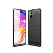 Case TPU Ancus Carbon Series for Samsung SM-A715F Galaxy A71 Black