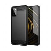 Case Tech Protect Carbon for Xiaomi Poco M3 TPU Black