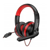 Stereo Gaming Headphone W103 Magic Tour with 3.5mm Connector and Microphone with Activation Switch Red