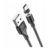 Data Cable Hoco X52 Sereno USB to USB-C 3.0A with with Magnetic Detachable Plug Black 1m