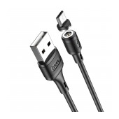 Data Cable Hoco X52 Sereno USB to Micro-USB 2.4A with with Magnetic Detachable Plug Black 1m