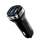 Car Charger Hoco Z40 Superior Dual USB 5V 2.4Α White with LED Light