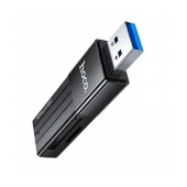 Memory Card Reader HB20 Mindful 2 in 1 USB 3.0 up to 5Gbps and 2TB for Mico SD and SD Black