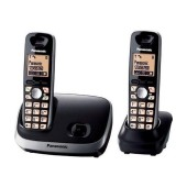 Refurbished (Exhibition) Dect/Gap Panasonic KX-TG6512GRB Black with Speaker Phone and Eco Mode