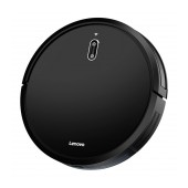 Robot Vacuum Cleaner Lenovo E1-L D450 for Wet and Dry Cleaning 1600Pa Remote Controled with Sensors and Mapping Black