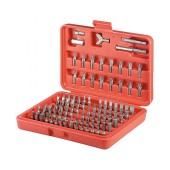 Screwdriver Fixpoint 77045 100 pcs with Different Bits. Includes Storage Box