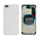 Battery Cover for Apple iPhone 8 Plus White with Camera Lens, SIM Tray and External Keys OEM Type A