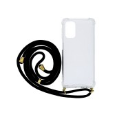 Case Ancus Crossbody for Samsung SM-A326B Galaxy A32 5G Transparent with Black Strap