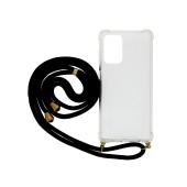Case Ancus Crossbody for Samsung SM-A725F Galaxy A72 / SM-A726B Galaxy A72 5G Transparent with Black Strap