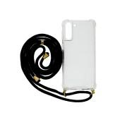 Case Ancus Crossbody for Samsung SM-G996B Galaxy S21+ 5G Transparent with Black Strap