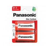 Battery Zinc Carbon Panasonic LR20 Size D Pcs 2