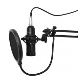 Proffesional Microphone Media-Tech MT396 Black Set for Studio Recording and Streaming