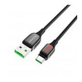Data Cable Nylon Braid Borofone BU14 Heroic USB to USB-C 5.0A 1.2m Black