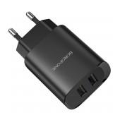 Travel Charger Borofone BN2 Super Fast Dual USB 5V 2.1A Black