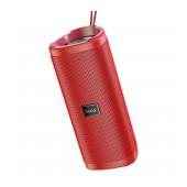 Wireless Speaker Hoco HC4 Bella TWS Red V5.0 2X5W, IPX4, Microphone, FM, USB & AUX Port, Micro SD