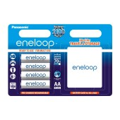 Rechargeable Battery Panasonic eneloop BK-3MCCEC4BE 2000 mAh size AA Ni-MH 1.2V Τεμ. 4 with storage case