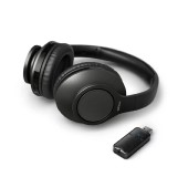 Philips Wireless Stereo Headphones TAH6206BK/00  Black for TV and HiFi Stereo 3,5mm/Bluetooth Dongle