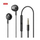 Hands Free Lenovo HF140 Earphones Stereo 3.5mm with Micrphone, Operation Control Button and Loud Speaker Black