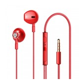 Hands Free Lenovo HF140 Earphones Stereo 3.5mm with Micrphone, Operation Control Button and Loud Speaker Red