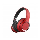 Wireless Stereo Headphone Lenovo HD200 V.5.0 with Microphone, AUX port, Control Buttons & 20 hrs Playtime Red