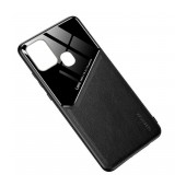 Case TPU Ancus Generous Series Glass & Leather for Samsung SM-A217FGalaxy A21s Black