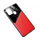 Case TPU Ancus Generous Series Glass & Leather for Samsung SM-A217FGalaxy A21s Red