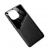Case TPU Ancus Generous Series Glass & Leather for Xiaomi Mi 11 Black