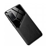 Case TPU Ancus Generous Series Glass & Leather for Samsung SM-G780F Galaxy S20 FE Black