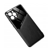 Case TPU Ancus Generous Series Glass & Leather for Apple iPhone 12 / iPhone 12 Pro Black