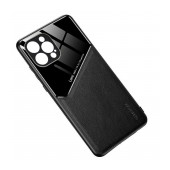 Case TPU Ancus Generous Series Glass & Leather for Apple iPhone 12 Pro Max Black