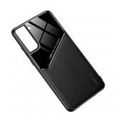Case TPU Ancus Generous Series Glass & Leather for Samsung SM-G996B Galaxy S21+ 5G Black