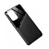 Case TPU Ancus Generous Series Glass & Leather for Samsung SM-A525F Galaxy A52 Black