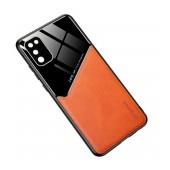 Case TPU Ancus Generous Series Glass & Leather for Samsung SM-A415F Galaxy A41 Orange