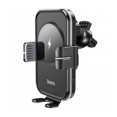 Air Vent Car Mount and Wireless Charging Hoco CA80 Buddy Black 15W