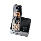 Refurbished (Exhibition) Dect/Gap Panasonic KX-TG6711GRB Black with Speakerphone and ECO Function